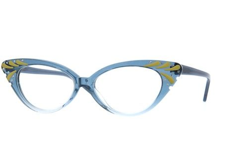 bcf3fa83ae Blue Acetate Full-Rim Frame with Spring Hinges  187616 Sprung Hinges