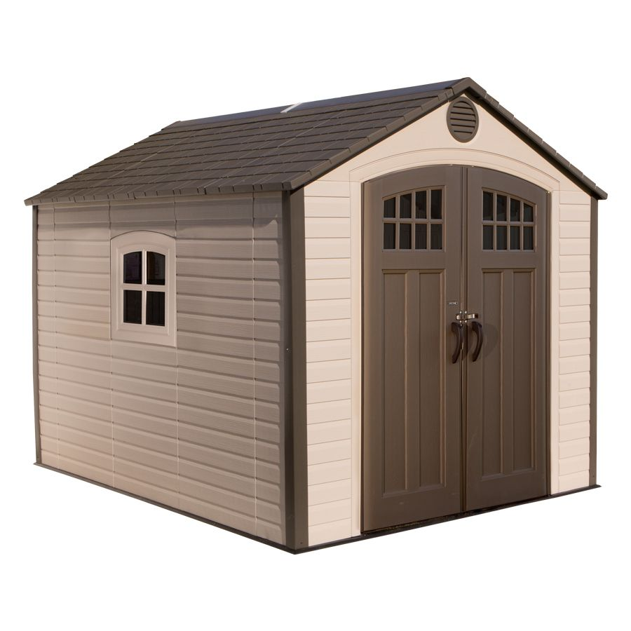 Shop Lifetime Products Gable Storage Shed Common 8 Ft X 10 Ft Actual Interior Dimensions Shed Storage Shed Building A Shed