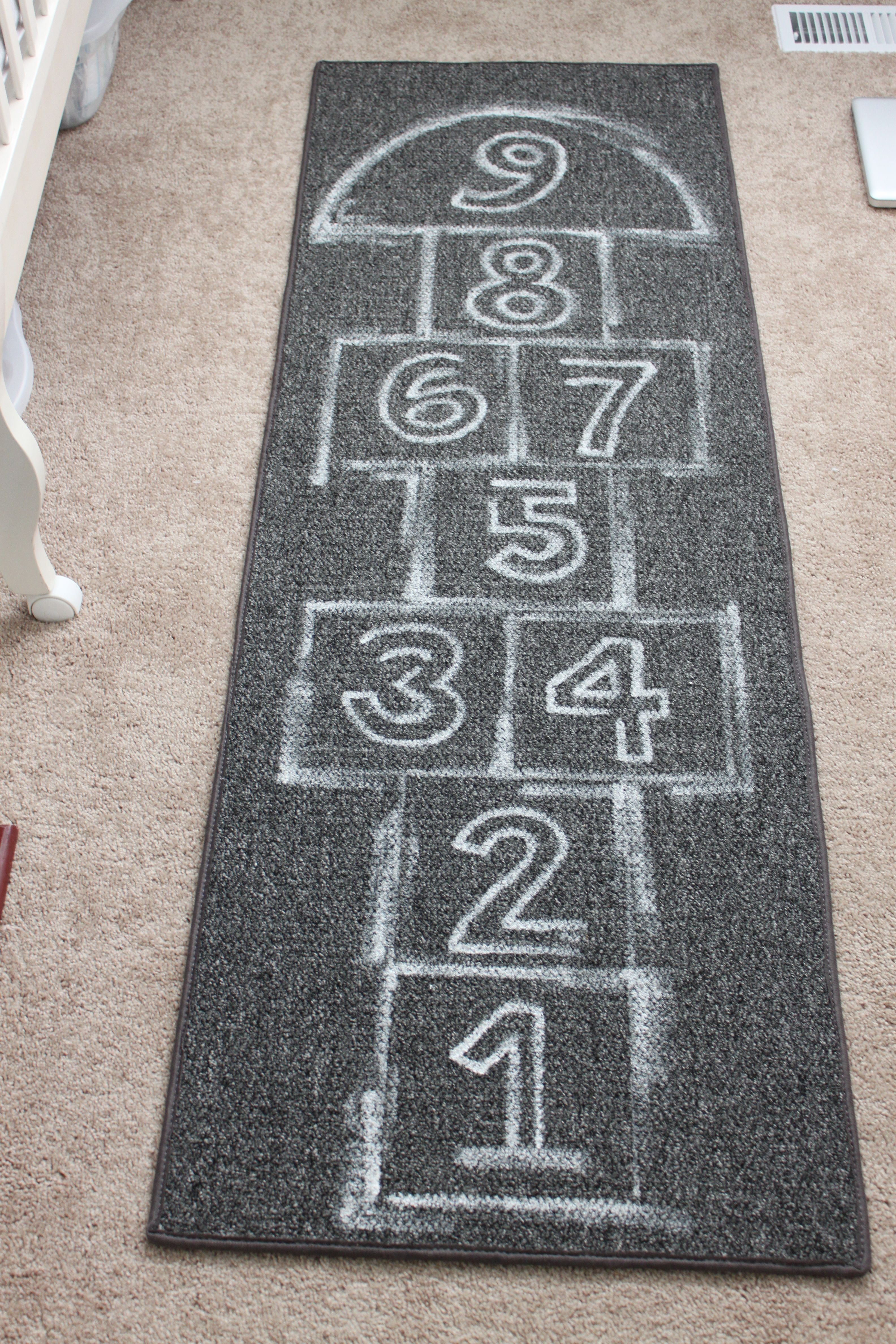 Ok Love The Cb2 Hopscotch Rug Don T Love The Price So Here S My Version For A Few Hundred Dollars Carpets For Kids Hopscotch Rug Holiday Crafts For Kids