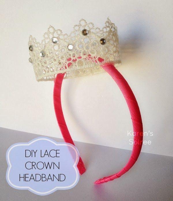 Pin By Karen Crawn On Home Decor: DIY Lace Crown Headband #lacecrown #DIY @Karen's Soiree