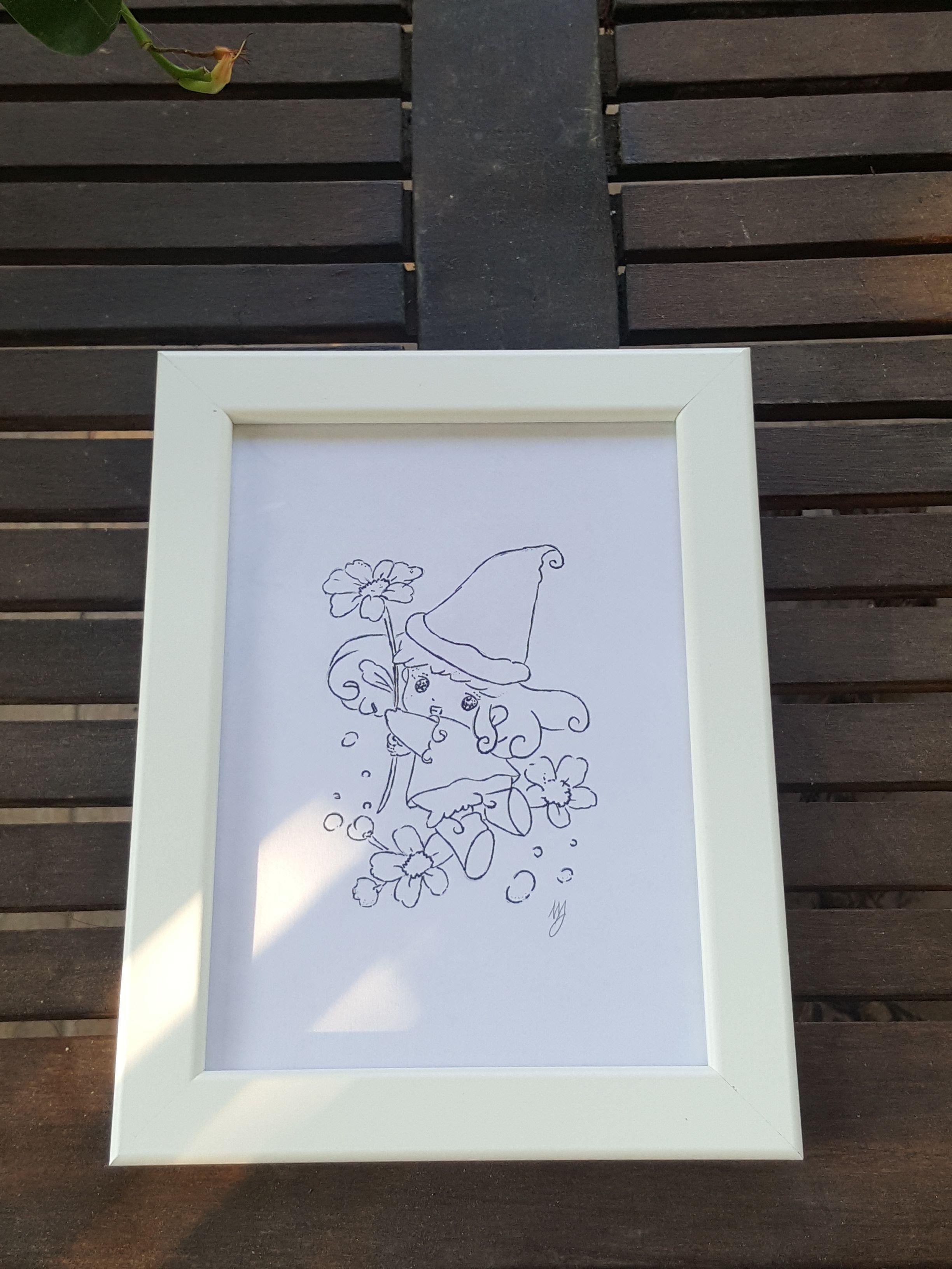 Cornici Foto Bambini.Quadro Disegno Per Bambina Memole Con Cornice Ikea Disegni