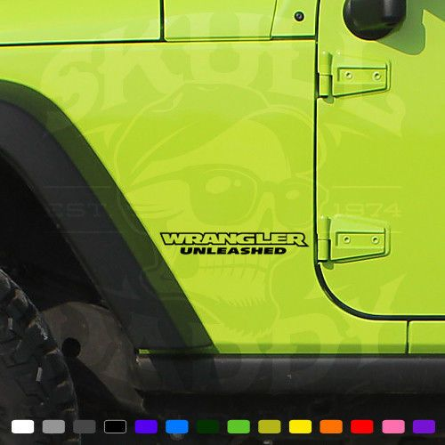 Jeep WRANGLER UNLEASHED Factory OEM Replacement Decals Stickers Graphics JK LJ #SkullDaddyGraphics