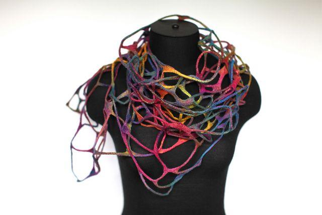 Felted Net Scarf Wrap by FeltedPleasure, via Flickr