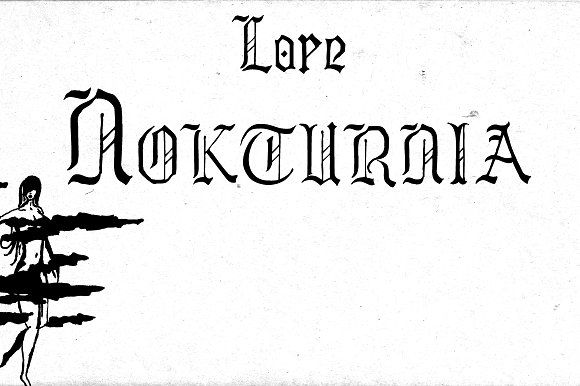 Lore - A handwritten Old English font for past, present & future