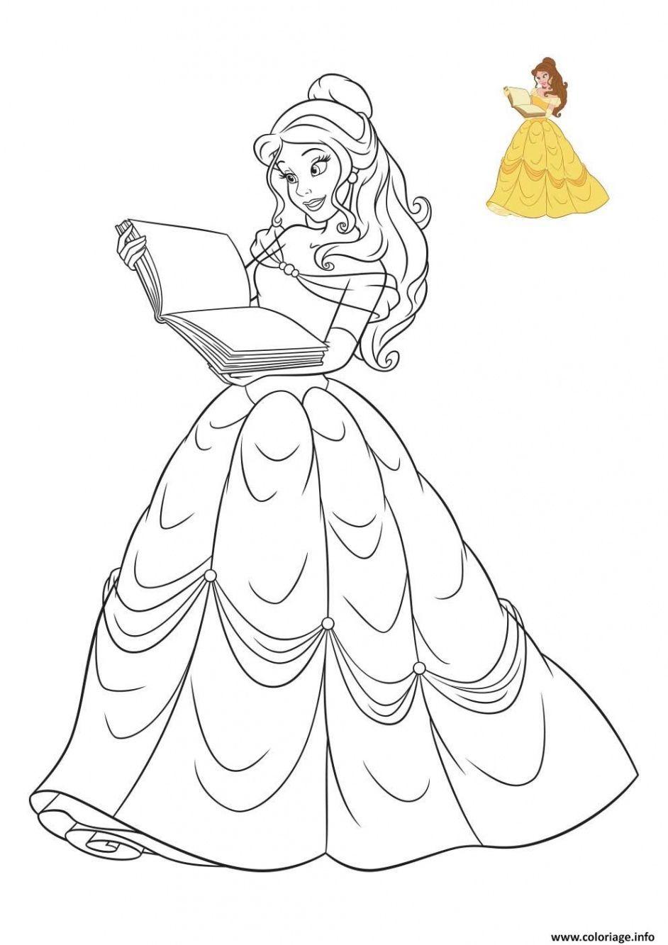 Coloriage Princesse Disney La Belle Et La Bete Dessin Destiné Jeux