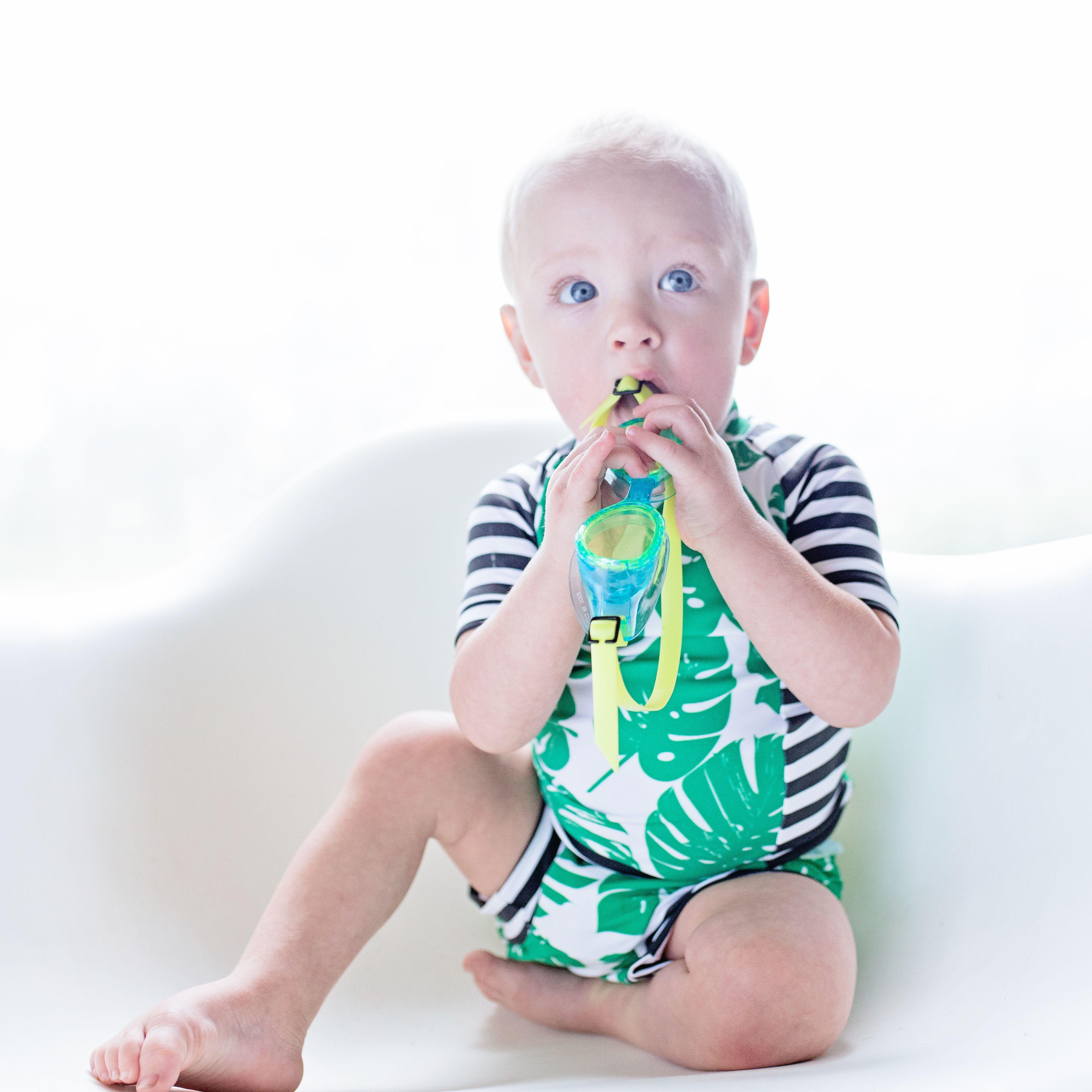 cb4acd6a5b Cutest Baby Swim Suit Ever! Monstera Rash Guard. Baby Rash guard, Baby Euro  Swimsuit, Baby Speedo. Wonderjet. Tropical Swimsuit. Toddler Swimsuit.