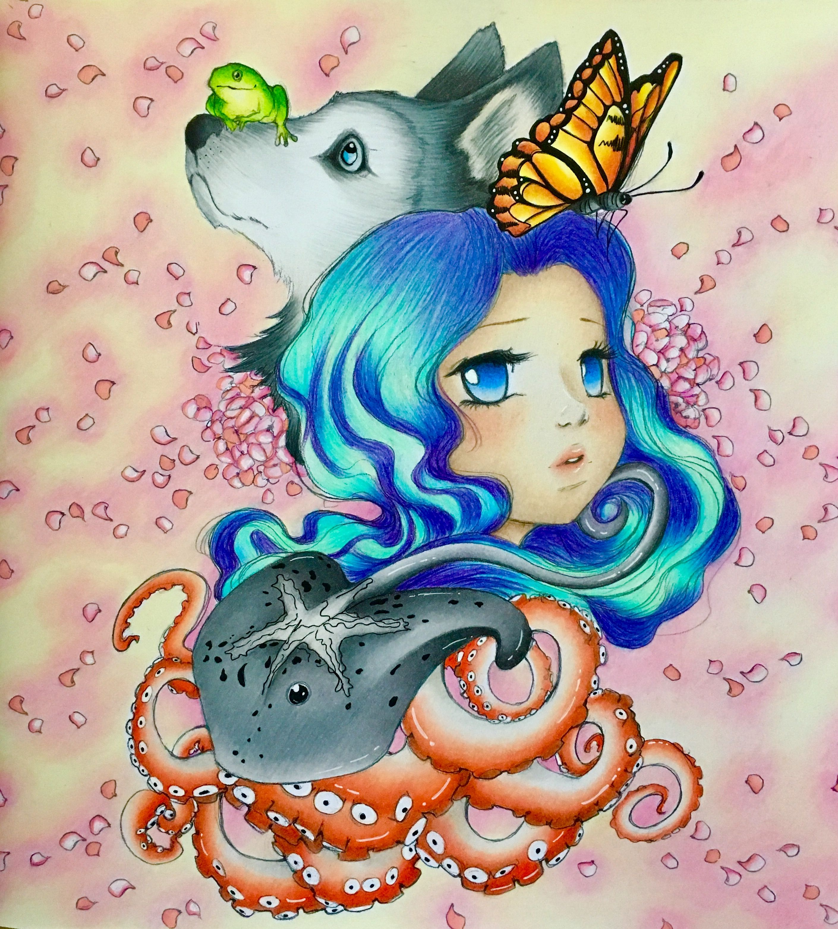 Camilla D Errico Pop Manga Manga Coloring Book Mermaid Coloring Book Manga Mermaid