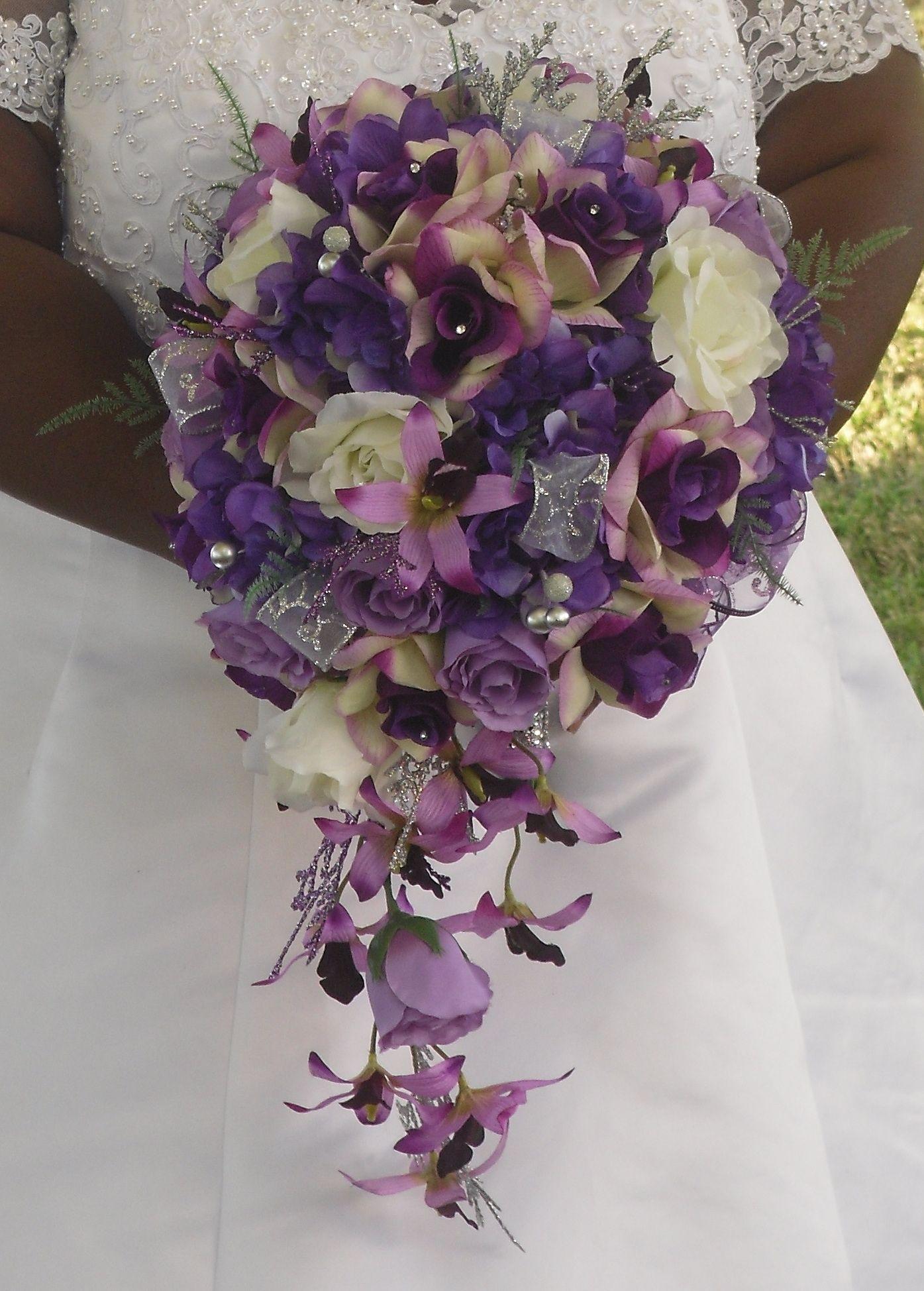 purple n silver teardrop bouquet my work portfolio in