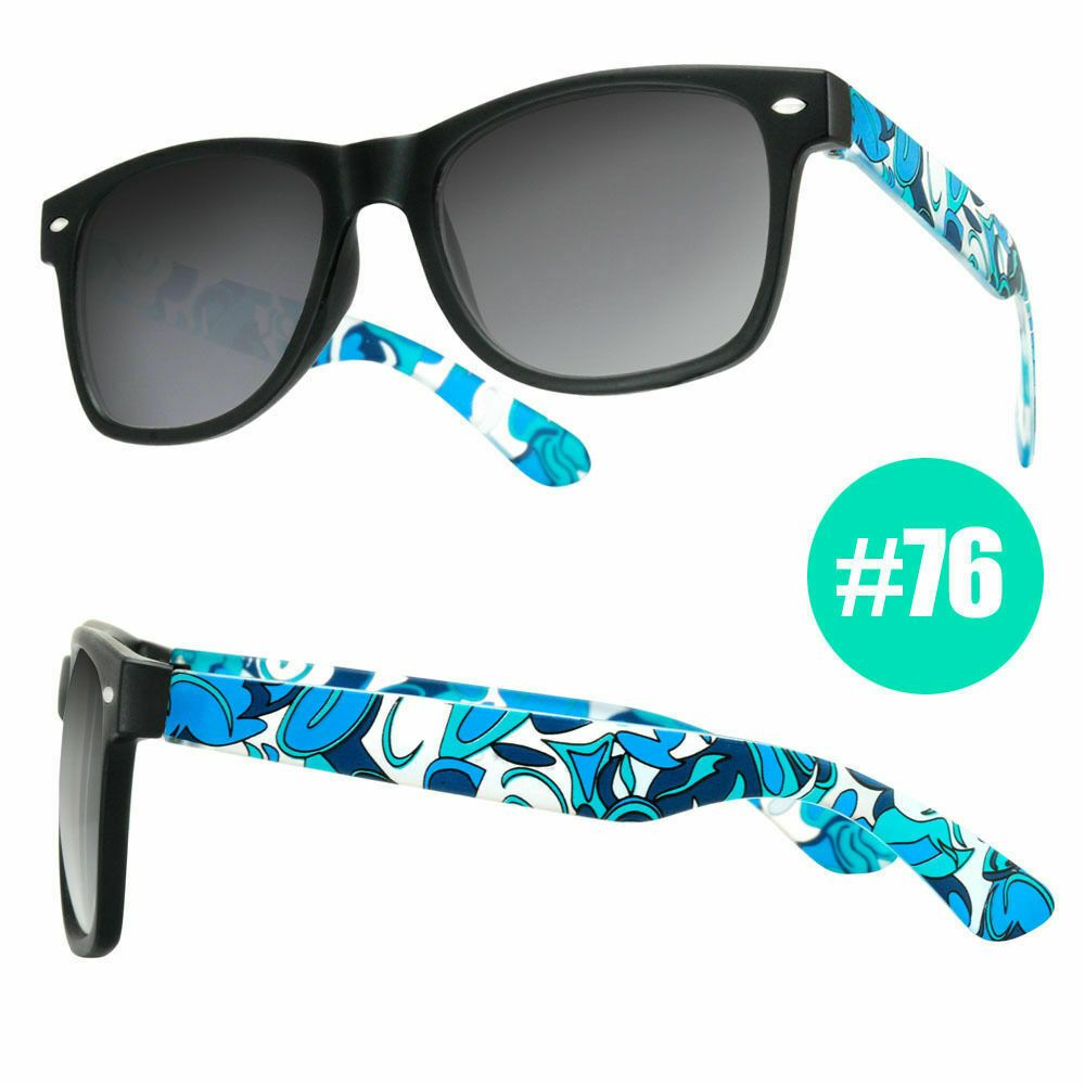 NEW Funky Party Fashion Retro Style Nerd Blue Black Lens Sunglasses Glasses