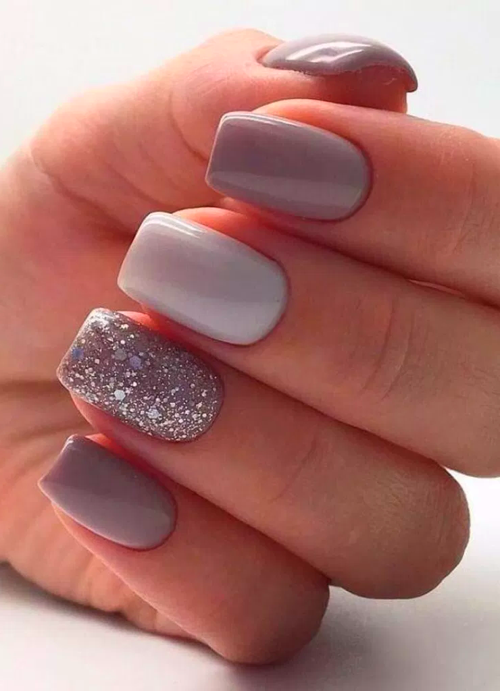 Gel Nails In 2020 Short Acrylic Nails Designs Short Acrylic Nails Glitter Gel Nails