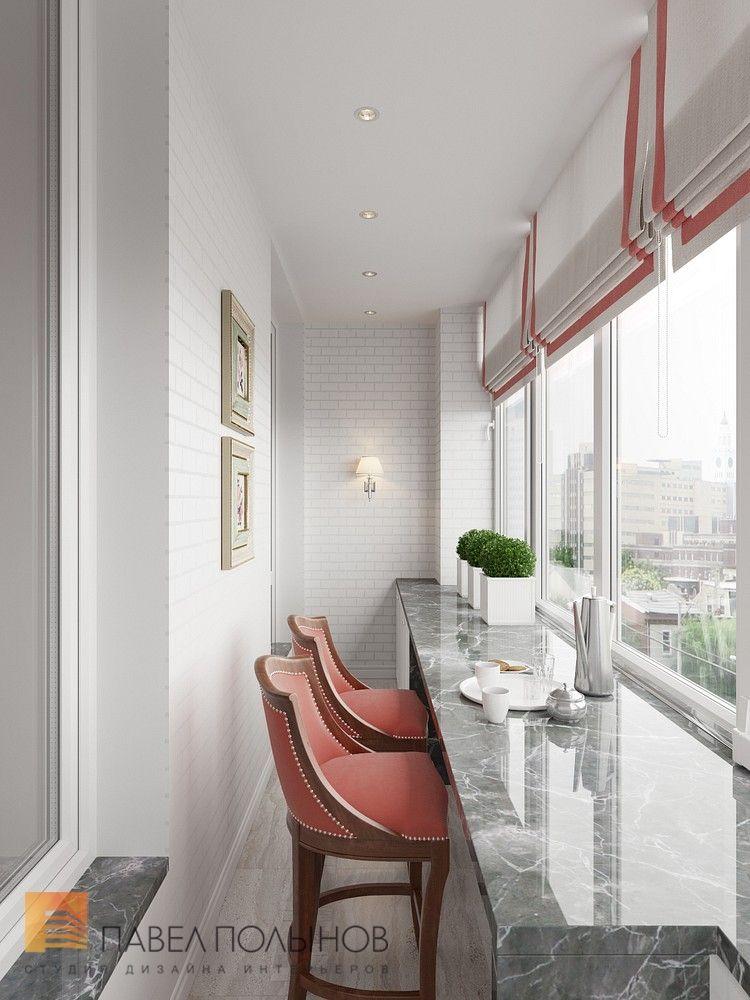Фото: Интерьер лоджии - Интерьер квартиры в классическом стиле в ЖК u00abВремена годаu00bb, 61 кв.м.