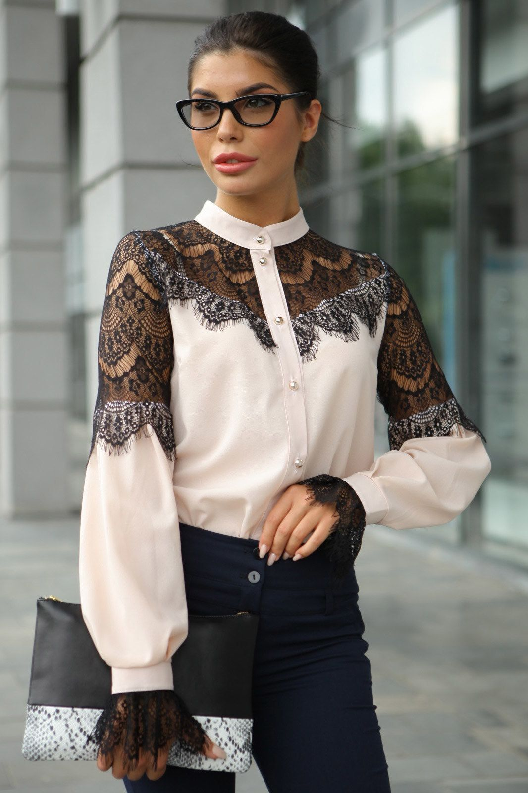 Bluza Zhenskaya Bluzy Rubashki Molegi Artikul 4031622 Fashion Blouses For Women Fashion Outfits