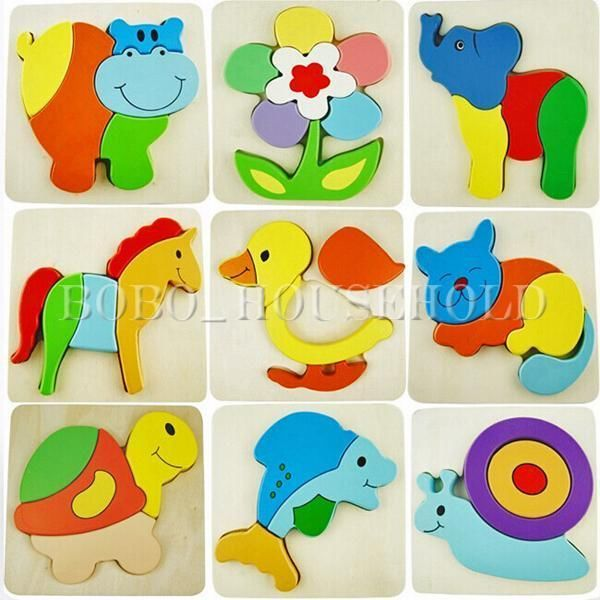 Home Collection Here Montessori Materials Animals Puzzle Clever Board Educational Wooden Toys For Children Cat Elephant Baby 3d Puzzles For Toddlers