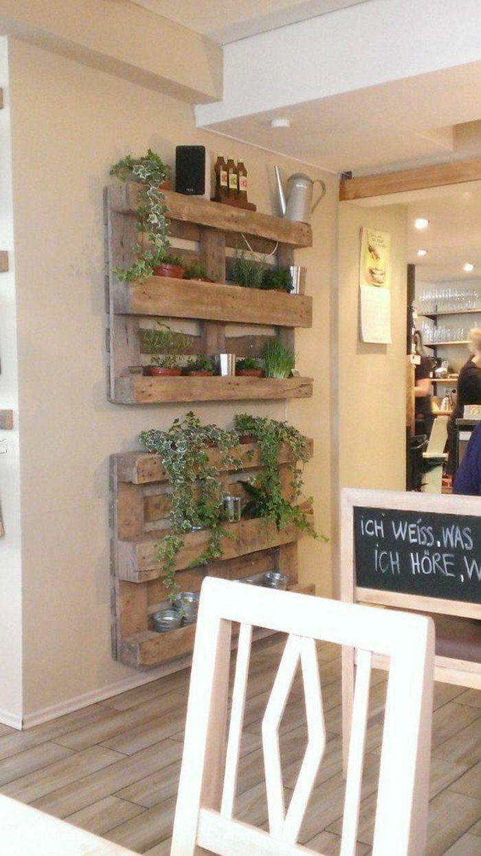 40 Original Ideas For A Vertical Garden Zuhause Diy Wandregal