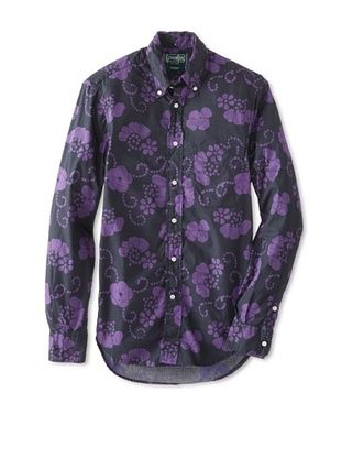 59% OFF Gitman Vintage Men's Floral Button-Up Shirt (Black/Purple)