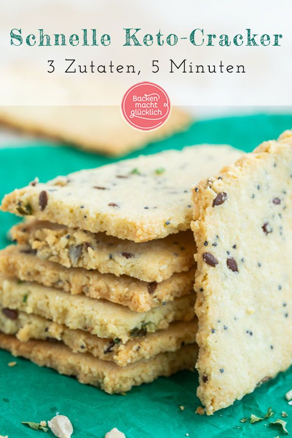 Photo of Fast Low Carb Crackers | Baking makes you happy