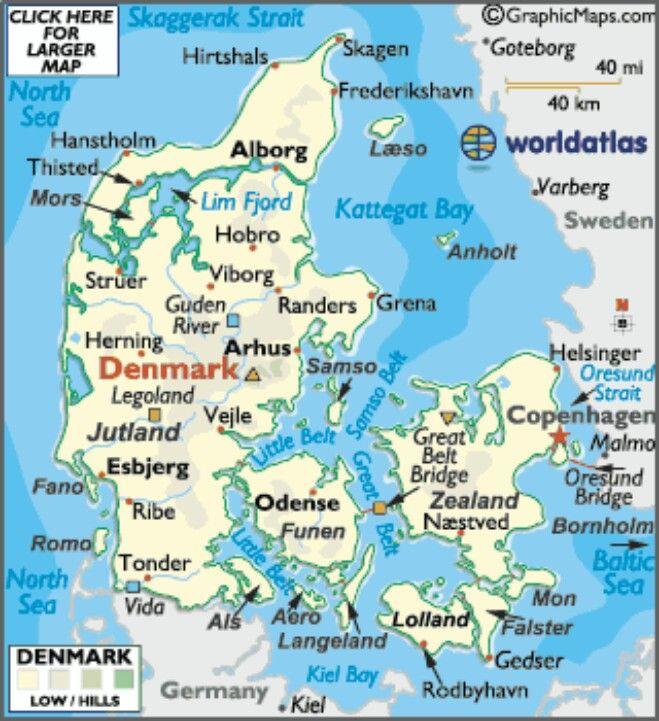 Denmark Map Travel Karte Von Danemark Skagen Danemark