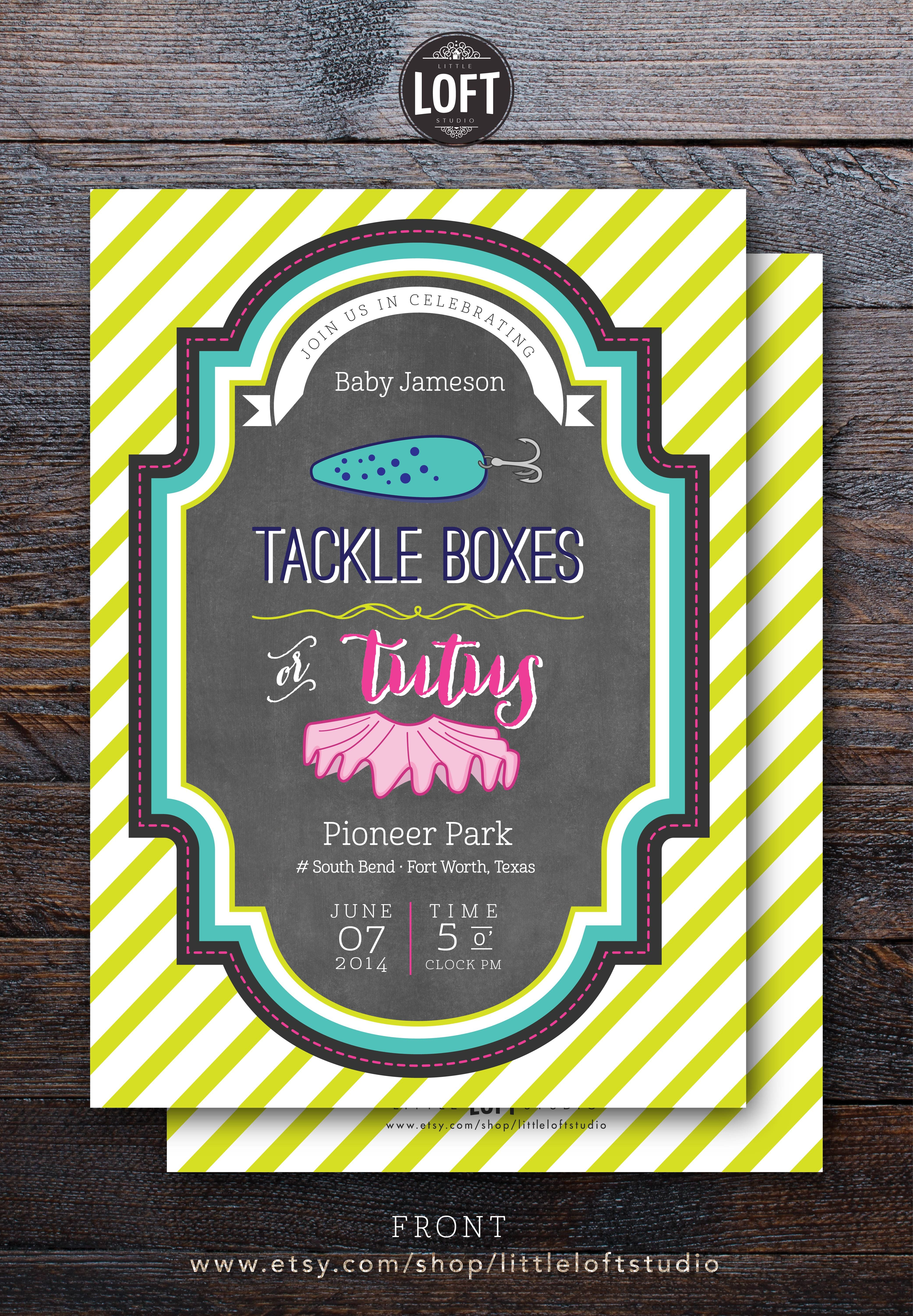 Unique Gender Reveal - Tackle Boxes or Tutus Gender Reveal Party ...