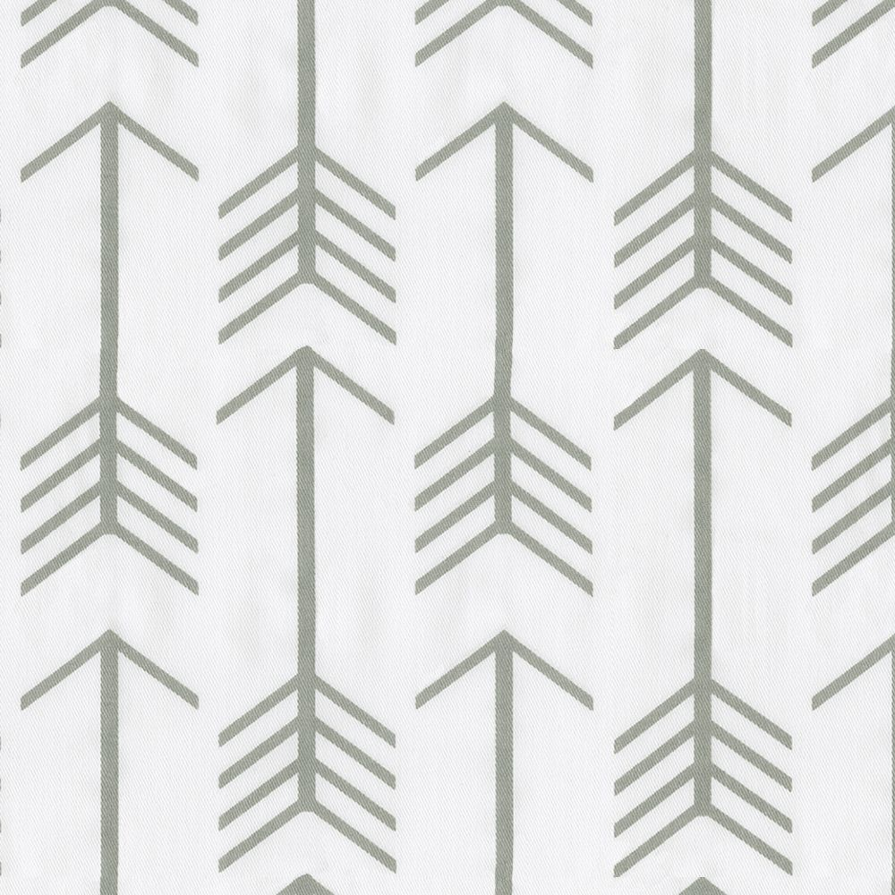 White and Gray Arrow Fabric by the Yard | Carousel Designs. Our ...