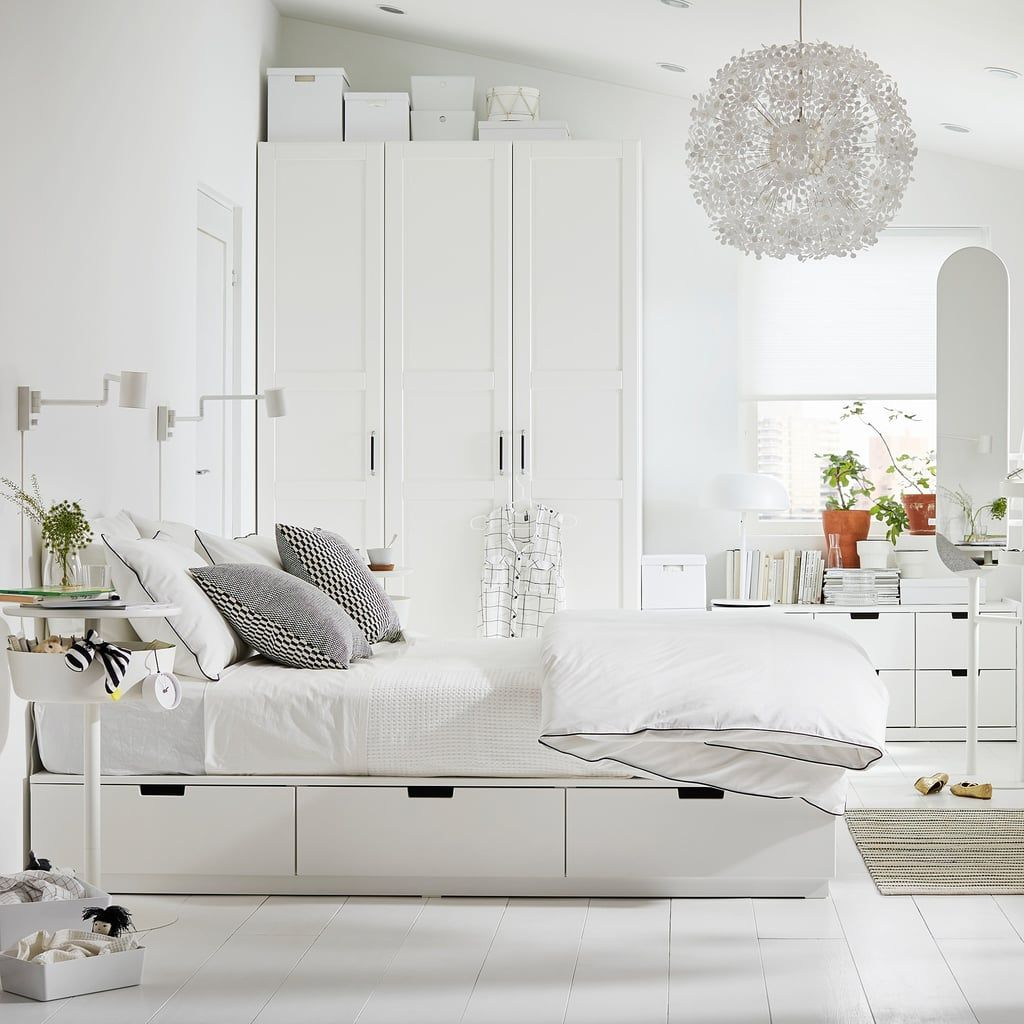 Ikea Has All Of The Space Saving Furniture Your Small Bedroom Needs For Cheap Bed Frame With Storage Ikea Bed Ikea Nordli