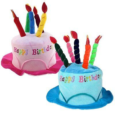 Plush Soft Fancy Dress Happy Birthday Cake Hat With Candles Cap Adult Kids Si View More On The LINK Zeppyio Product Gb 2 272040800877