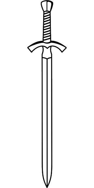 Black Two Outline Drawing White Double Sword Png 320 640 Sword Tattoo Sword Drawing Sword