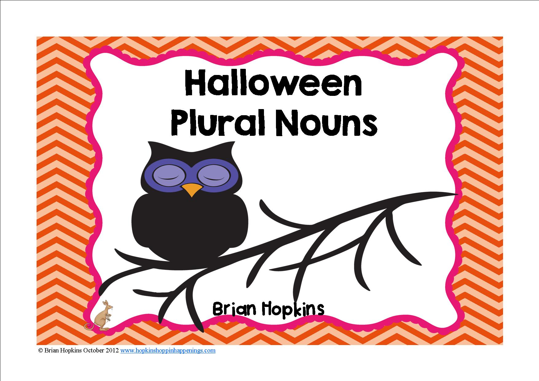 Halloween Plural Nouns