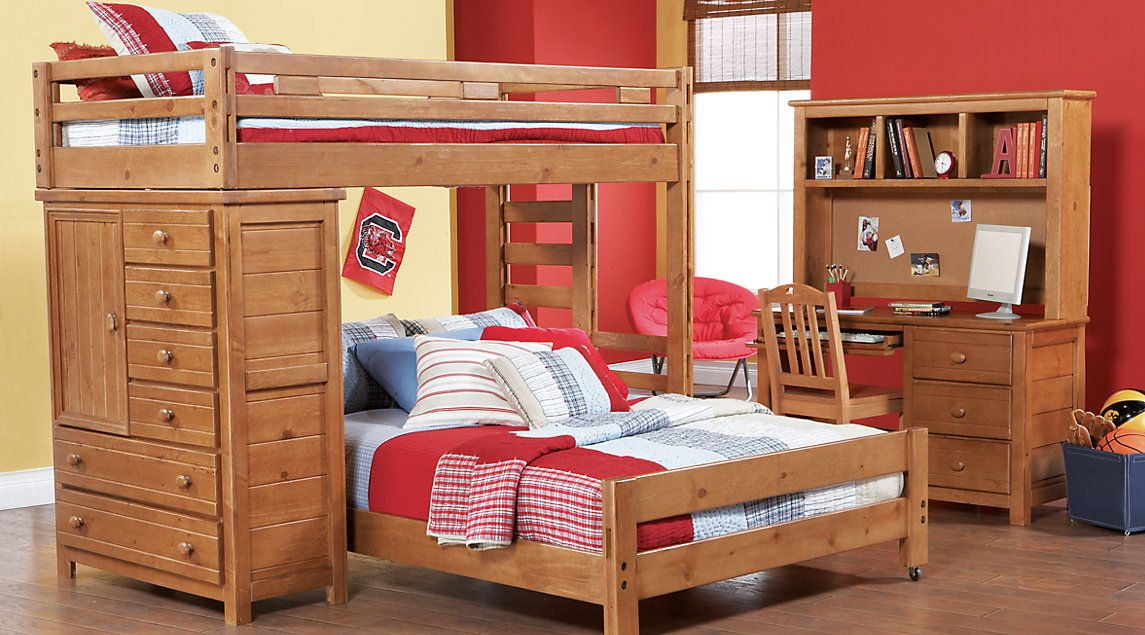 Creekside Taffy Twin/Full Student Loft Bed with Chest | Bunk beds ...
