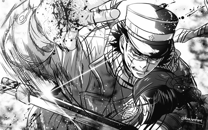 Download wallpapers Saichi Sugimoto, protagonist, manga