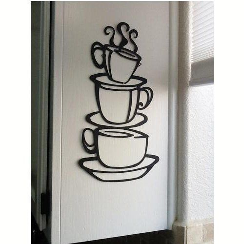 Pegatinas de tazas de café para la cocina   http://vinilos.info ...