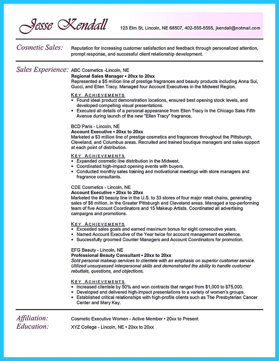 Beauty Advisor Resumes Pin On Resume Template Writing Help And Homework