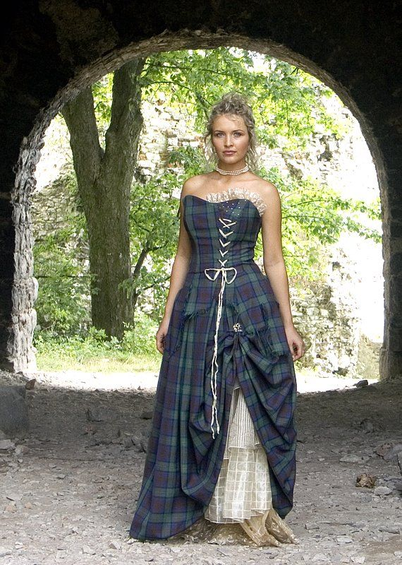 Tartan Dress With Lace Up Front Not Sure I Like The Off