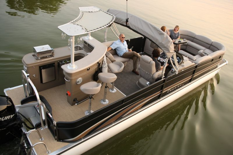Kitchen Pontoon Google Search Pontoon Luxury Pontoon Boats Pontoon Boat