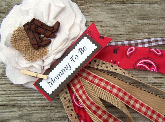 Western Mommy To Be Corsage Or Western Bridal By Bloomingparty