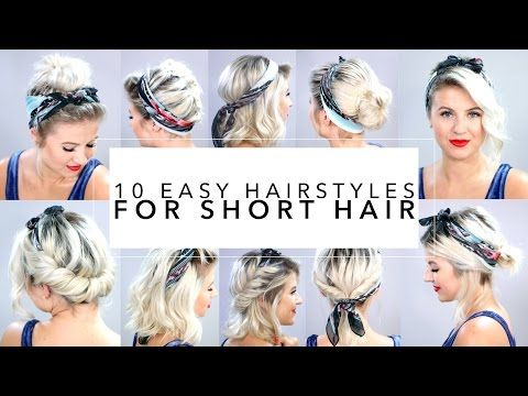 Easy Hairstyles For Short Hair With Headband Milabu YouTube - Hairstyle for short hair for school