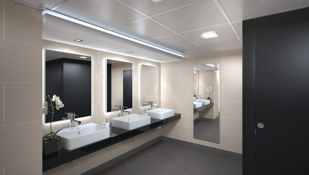 Beautiful Picture Of Commercial Bathroom Light Fixtures Interior
