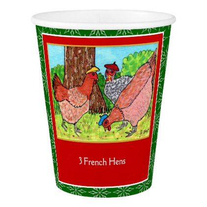12 days of christmas 3 french hens gift idea