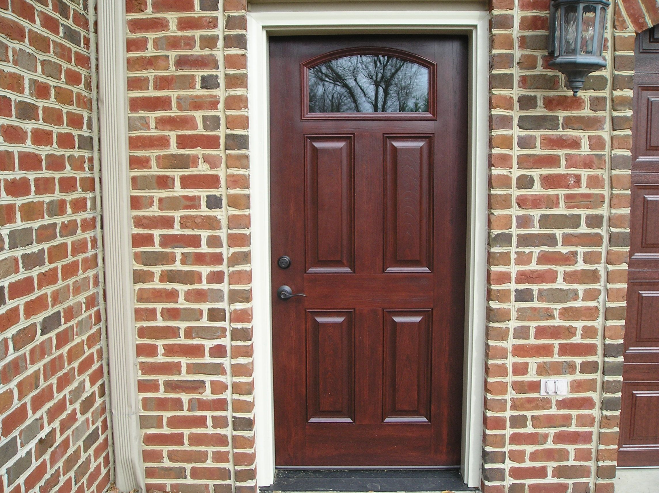 Provia signet fiberglass entry door in cherry provia for What is provia