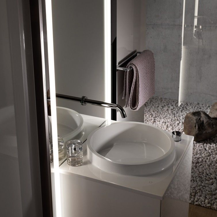 Mirror with integrated tap: ‹Touch› by ‹Emco›. | Cool objects for ...