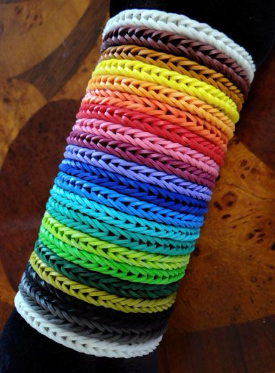 A Bracelet In Every Rainbow Loom Rubber Band Color White