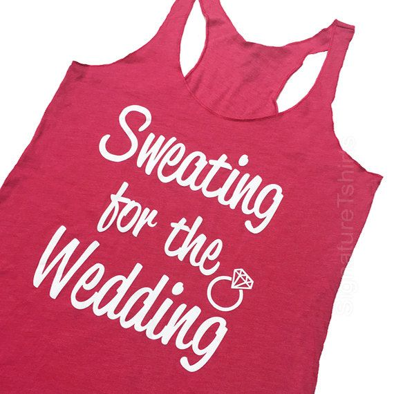 Sweating For The Wedding Tank Top Women's Gym by signaturetshirts