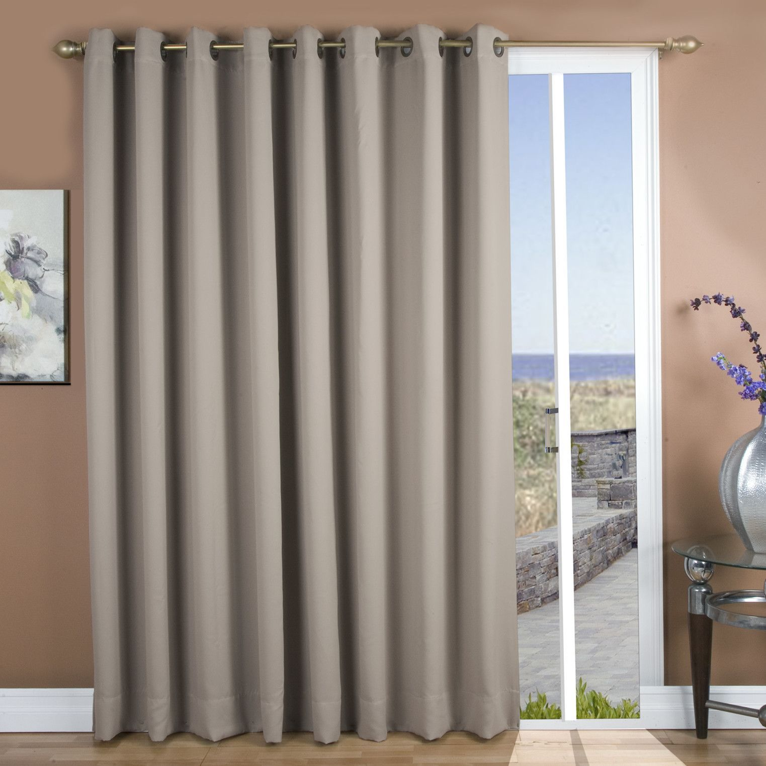 Ultimate Black Out Grommet Patio Single Panel Curtain