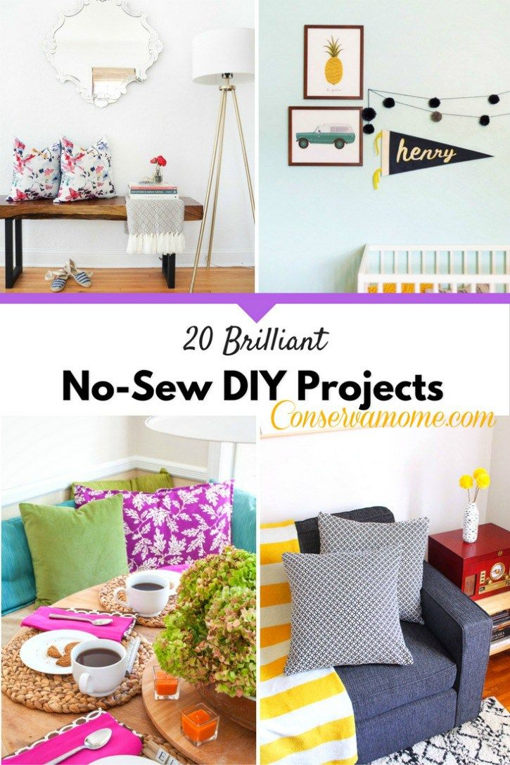 20 Brilliant No-Sew DIY Projects | Gift, Craft and Sewing diy