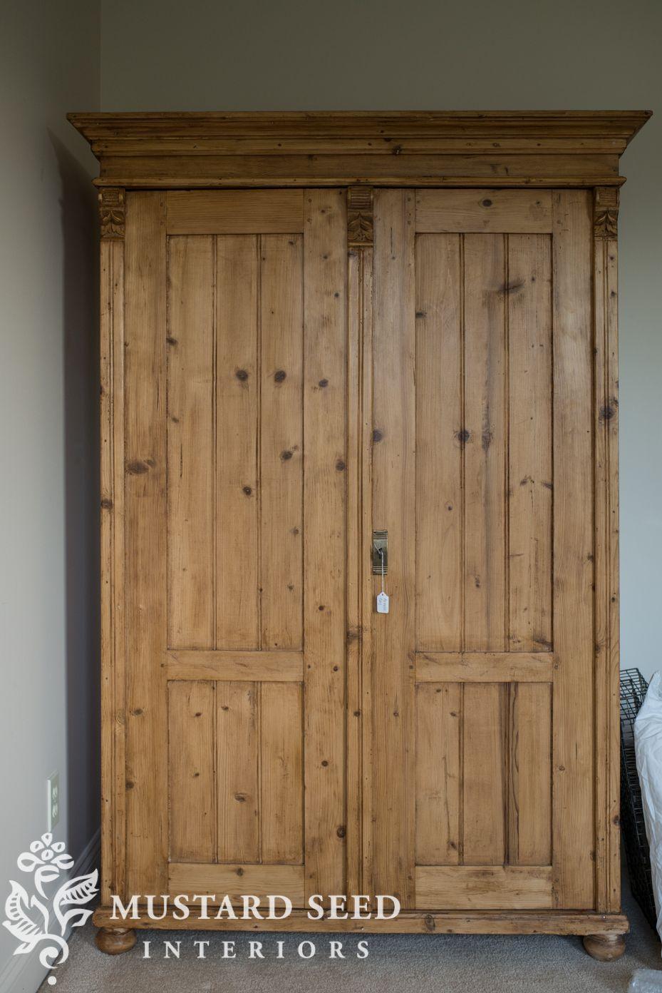 craigslist wardrobe score Pine wardrobe, Antique pine