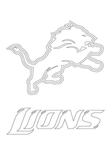 Detroit Lions Logo coloring page from NFL category. Select