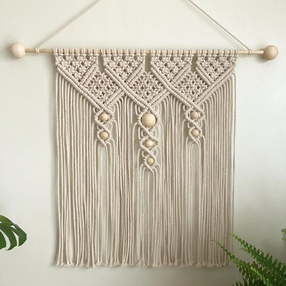 Medium Macrame Cotton Wall Hanging / Macrame Wall Art / Knotty Knotty Macrame