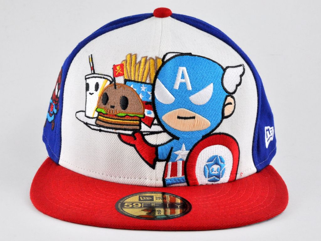 TOKIDOKI NEW ERA CAPTAIN AMERICA 59FIFTY FITTED CAP