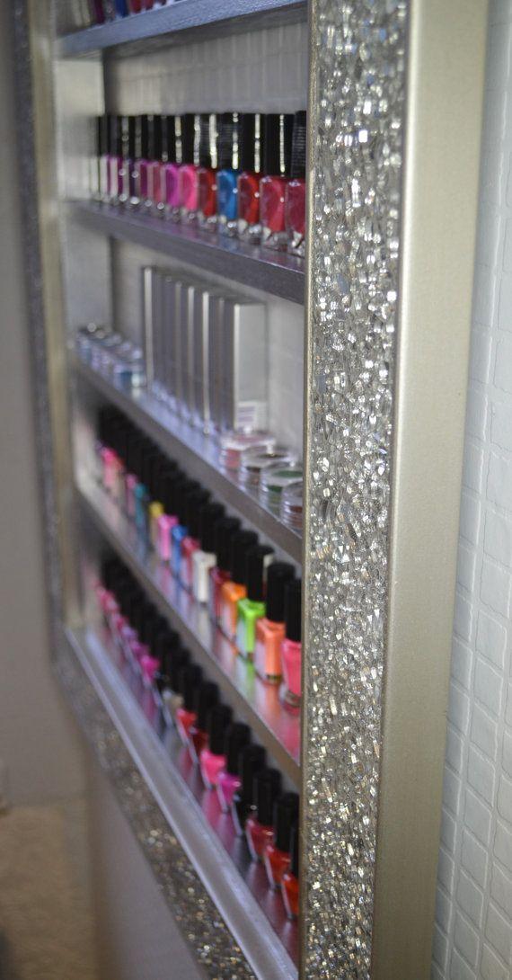 Estante de exhibición de espejo con marco de mosaico para productos ...