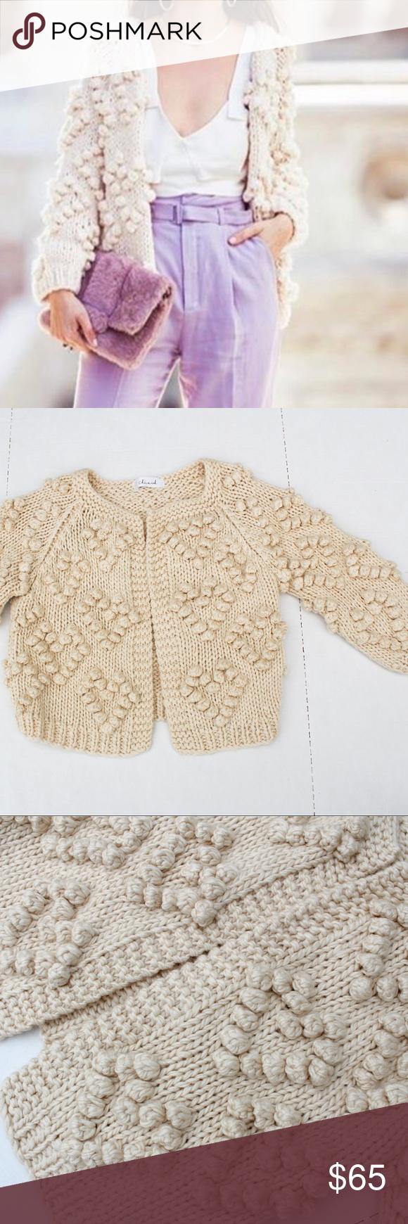 Chicwish Knit Your Love Cardigan Ivory Yarn Ball Shape Patterns Knitting