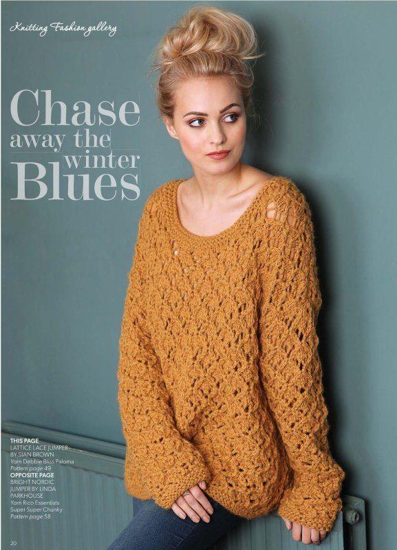 Схема вязаного свитера из толстой пряжи 7